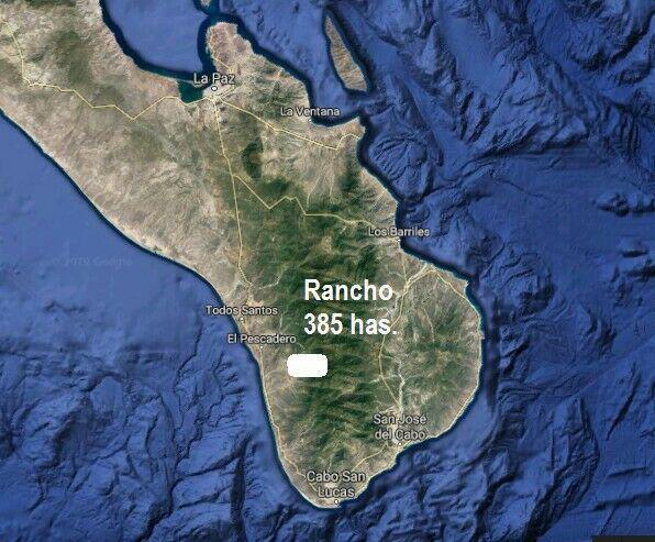 """Rancho """"el chucarro""""350 hectáreas 40 min. cabo san lucas"""