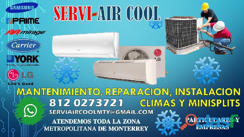 Aire acondicionado mantenimiento y reparación minisplit