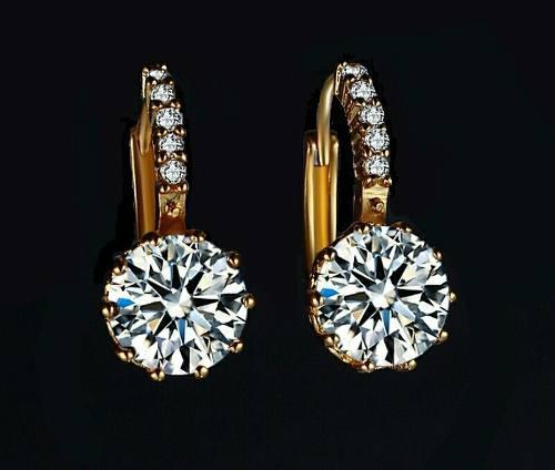 beb018d48708 Aretes oro zirconia calidad diamante + tarjeta personalizada