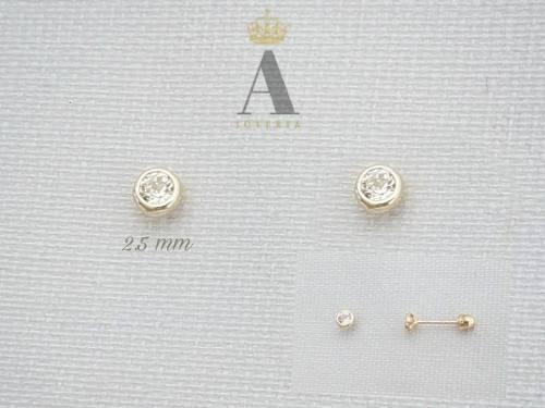 3975b43f1aee Broquel de oro sólido 10 k bicelado  10 ideal recién
