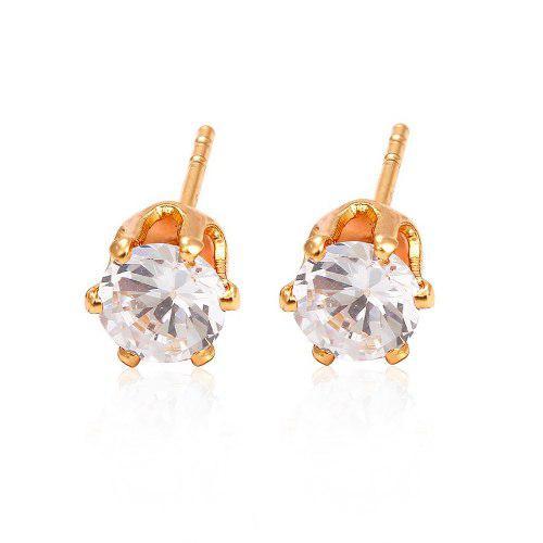 149e112918b4 Broqueles de oro 18k lam con zirconias 5mm corte diamante