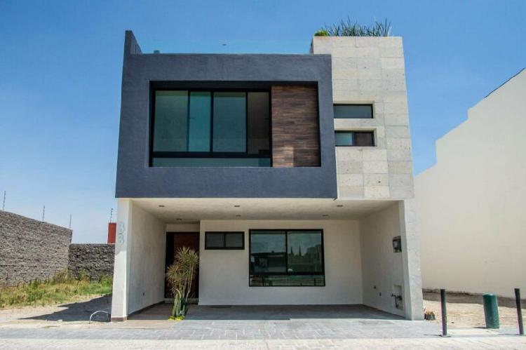 Excelente casa nueva en venta, residencial lucendi, atrás