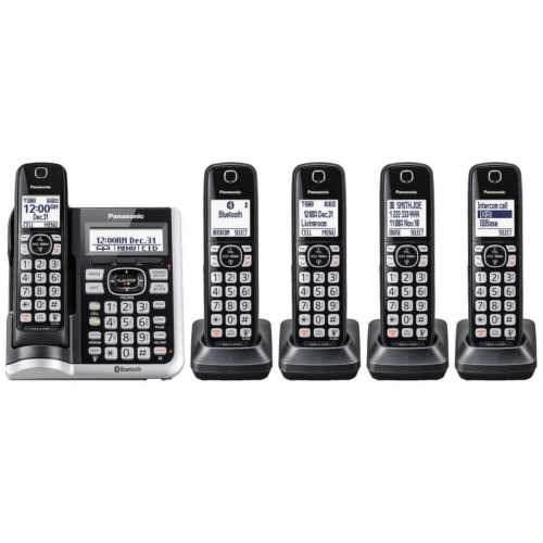 Panasonic kx tgf785 set 5 teléfonos dect 6.0 bluetooth