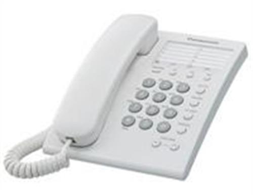 Panasonic teléfono básico con 13 memorias alámbrico