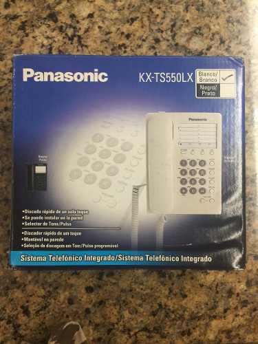 Panasonic teléfono básico kx-ts550, alámbrico, altavoz