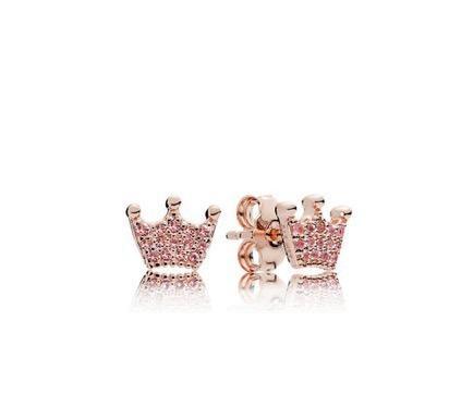 amplia selección calidad primero encontrar el precio más bajo Pandora 100% Original Aretes De Corona Logo Chapada En Oro