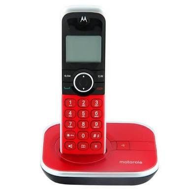 Teléfono inalámbrico motorola dect 6.0 4500 rojo