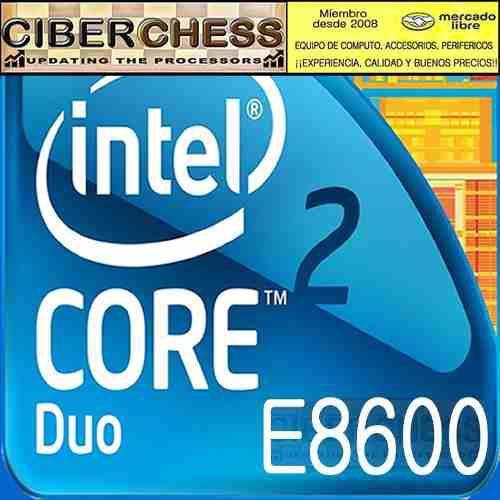 Intel core 2 duo e8600 3.33g/6mb/1333b/775 procesador e8600