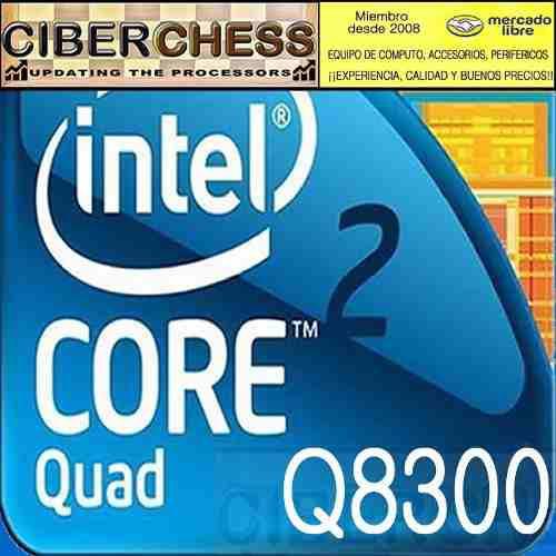 Intel core 2 quad q8300 2.50g/4m/1333fs/775 procesador q8300