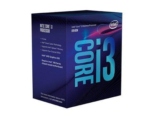 Intel core i3 8100 cpu 4 nucleos 3.6ghz 6mb 65w soc1151