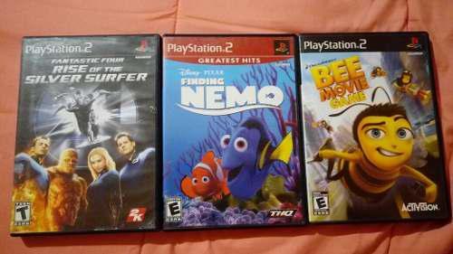 Lote de 3 juegos completos para ps2 por $200