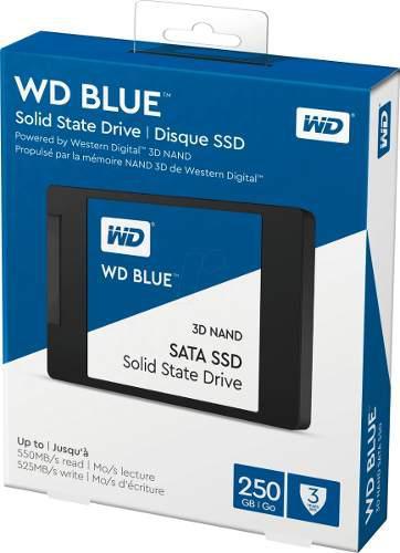Unidad de estado solido ssd wd blue 2.5 250gb sata