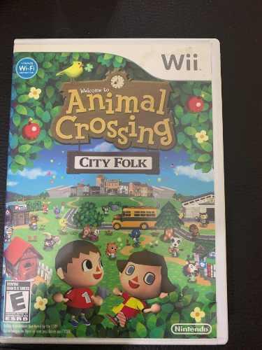 Animal crossing city wii caja y juego original