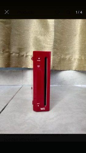Nintendo wii color rojo