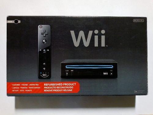 Nintendo wii negro + juegos de mario bros