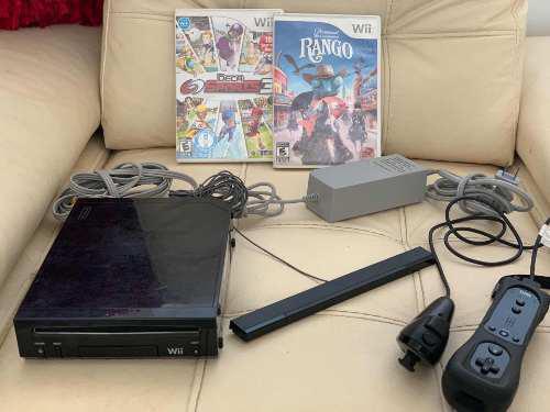 Nintendo wii negro y juegos