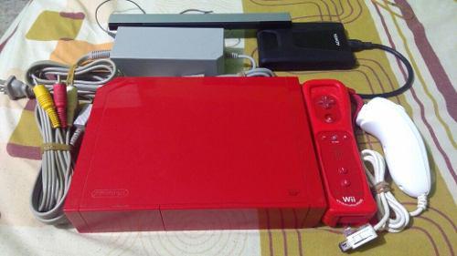 Nintendo wii rojo disco duro 1 tb con 380 juegos de wii