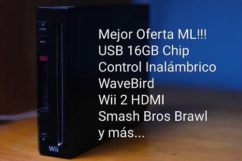 Wii negro retrocompatible, juegos usb y mucho mas...