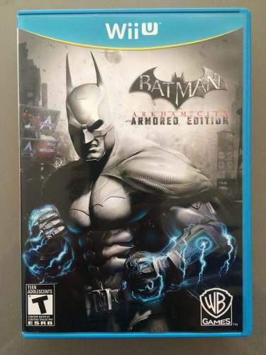 Batman arkham city armored edition wii u nintendo