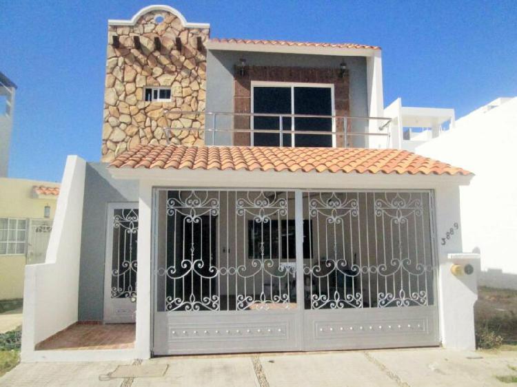 Casa en renta en mazatlán de 3 recámaras fracc. privado