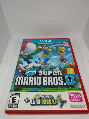 Wii ui new super mario bros u + luigi u (100% estetica)