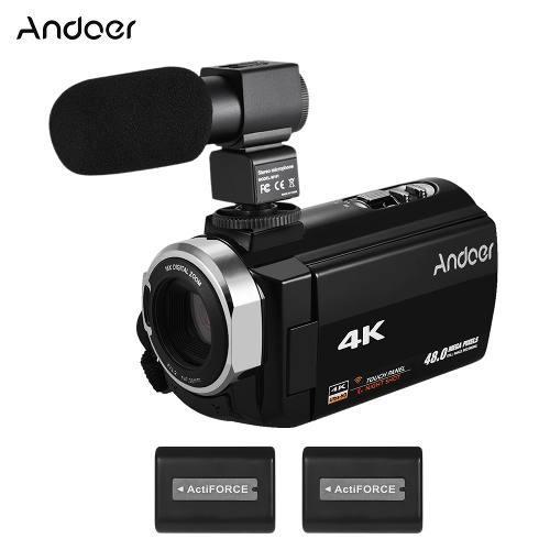 Andoer 4k hd digital vídeo cámara de la videocámara dv de