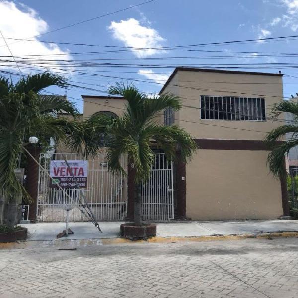 Casa en venta en sm 517, fracc barrio maya $850,000 m.n.