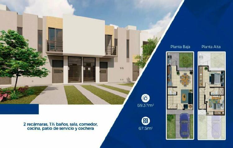 Casa nueva 2 pisos 2 recamaras a unos pasos de paseo