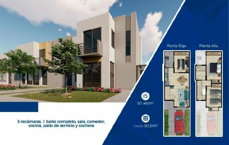Casa nueva 2 pisos 3 recamaras 1 baño a un lado de av.