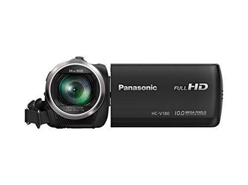 Panasonic hc-v180k videocámara full hd con zoom óptico