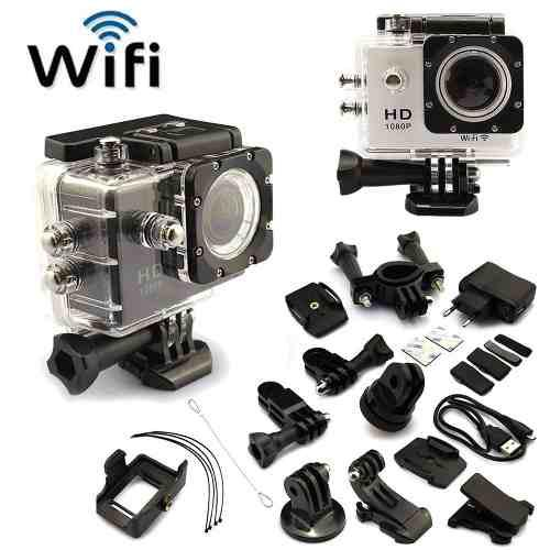 Videocamara deportiva de accion sumergible sj4000 hd + wifi