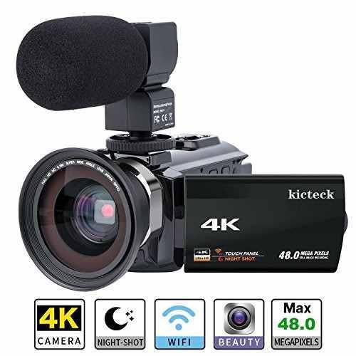 Videocámara kicteck 4k wifi 48.0mp visión noct 16x