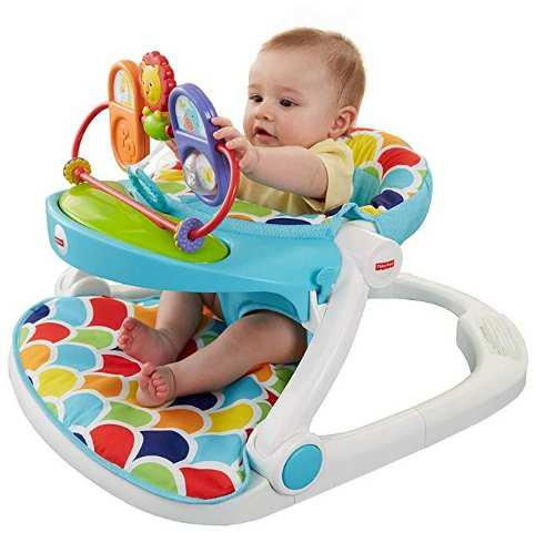 Asiento comedor portátil d piso para bebé sit me up 2 en 1
