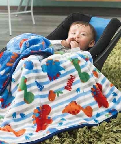 Cobertor Baby Nordico Dinos Dinosaurios Jurassic Envío Inc