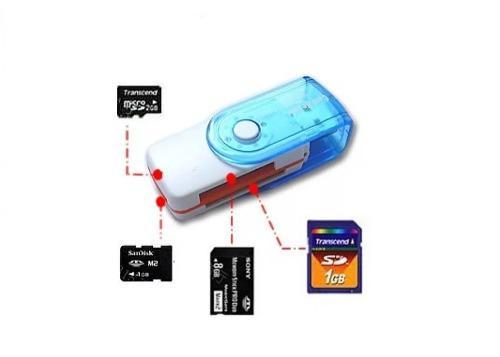 Lector adapatador memorias 15 en 1 usb micro sd m2!
