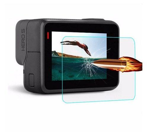Mica pantalla + lente gopro 5 / 6 / 7 black tempered glass