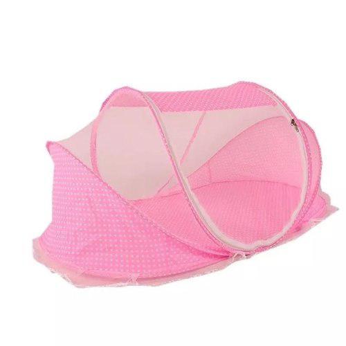 Moises cuna corral plegable portátil mosquietero solo rosa