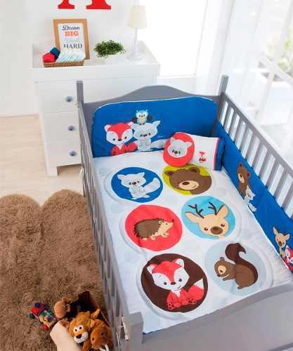 Oferta set de edredon cuna cama corral de bebe friends