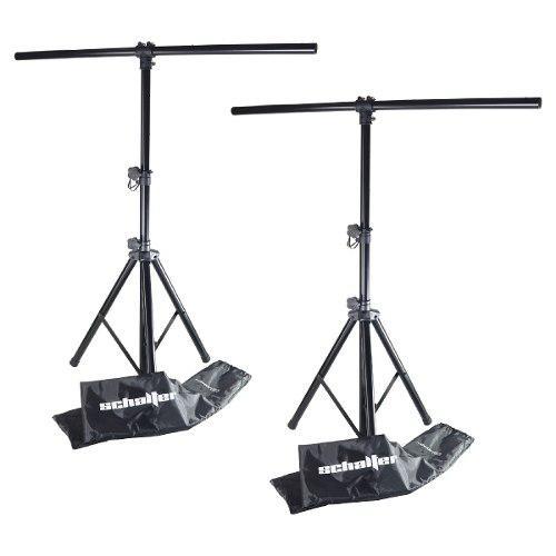 Stand tripie pedestal para luces led con funda pack 2 piezas