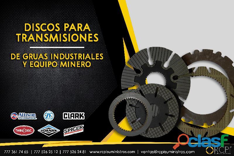 Discos de transmisiones para grúas industriales
