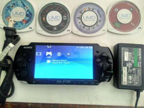 Psp slim modelo 3010 memoria 2gb y 4 juegos fisicos
