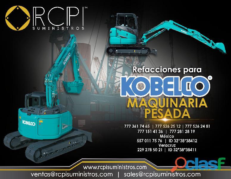 Refacciones para excavadora Kobelco