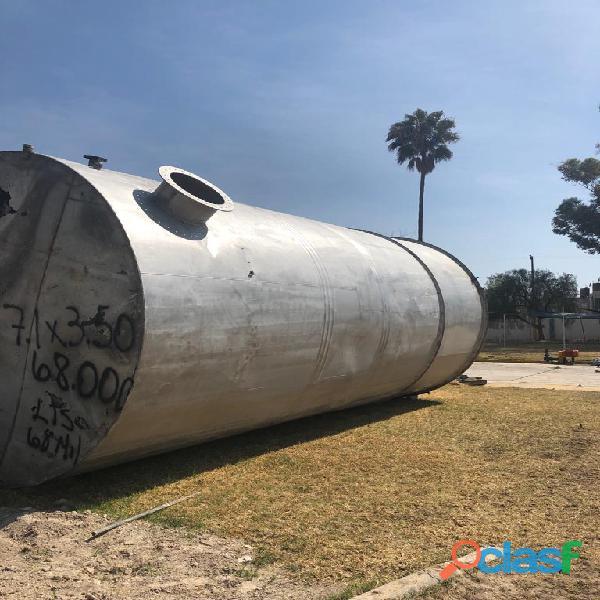 Tanque de almacenamiento acero inoxidable 304 cap: 68,000 lts.