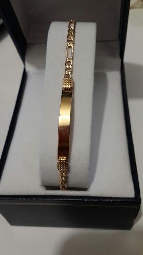 Esclava de oro laminada 18k con estuche 16 cm y envio gratis
