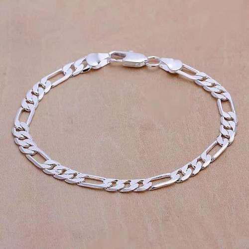 Esclava de plata laminada 21 cms + estuche