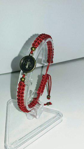 Lote 5 pulseras rojas san benito protección. envío gratis