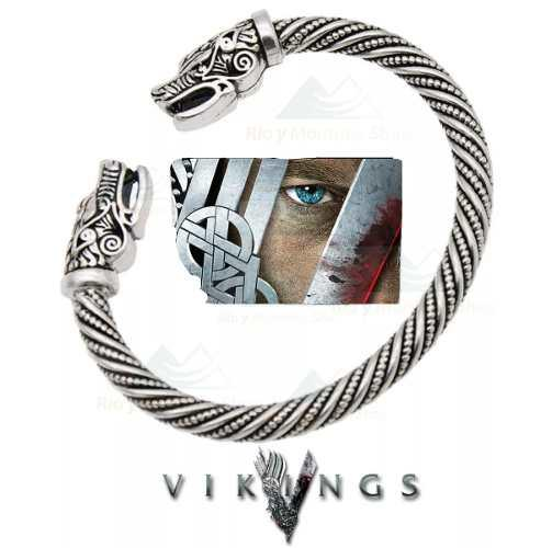 Pulsera brazalete serie vikingos acero ragnar nordico unisex