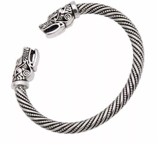 Pulsera brazalete vikings acero ragnar nordic unisex premium