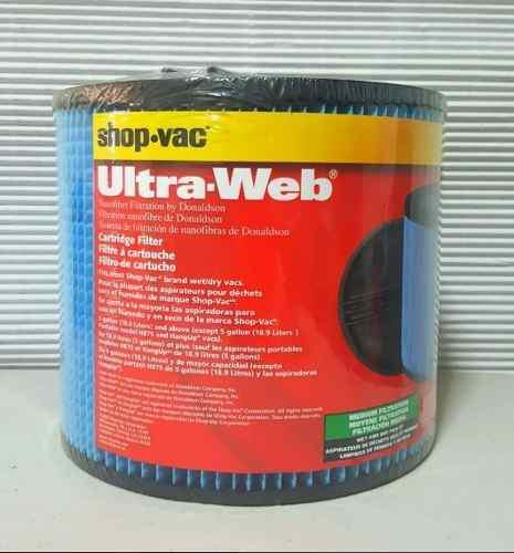 Shop vac filtro aspiradora cartucho ultra web (tipo x)