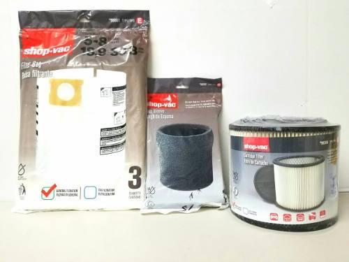 Shop vac filtros de repuestos para aspiradora kit completo